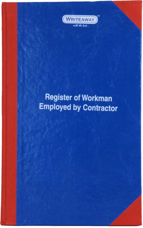 Writeaway Bsc00634 REG-34 1-Part Register Of Workman Employed By Contractor(1 Sets, Workman Employed By Contractor)