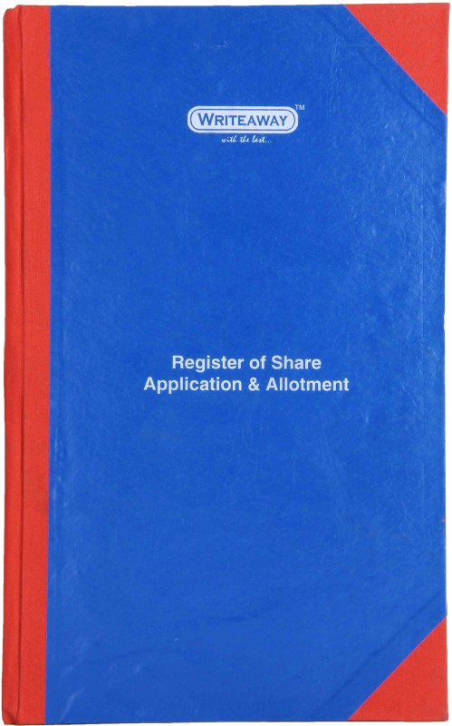 Writeaway BSC00606 REG-6 1-Part Register Of Share Application & Allotment(1 Sets, Application & Allotment)