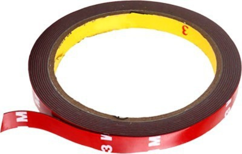3 M Double Side Or Sided Adhesive For Super Stronger Bonding 12 mm x 4 m Red Reflective Tape(Pack of 1)