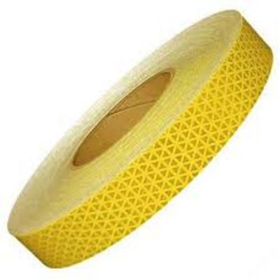 Tufkote High Intensity Conspicuity 25.4 mm x 10 m Yellow Reflective Tape