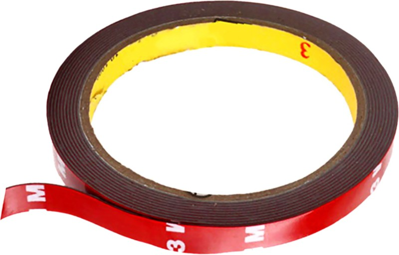 3M Car Scotch Double Sided Automotive Acrylic Foam 12 mm x 10 m Red Reflective Tape(Pack of 1)