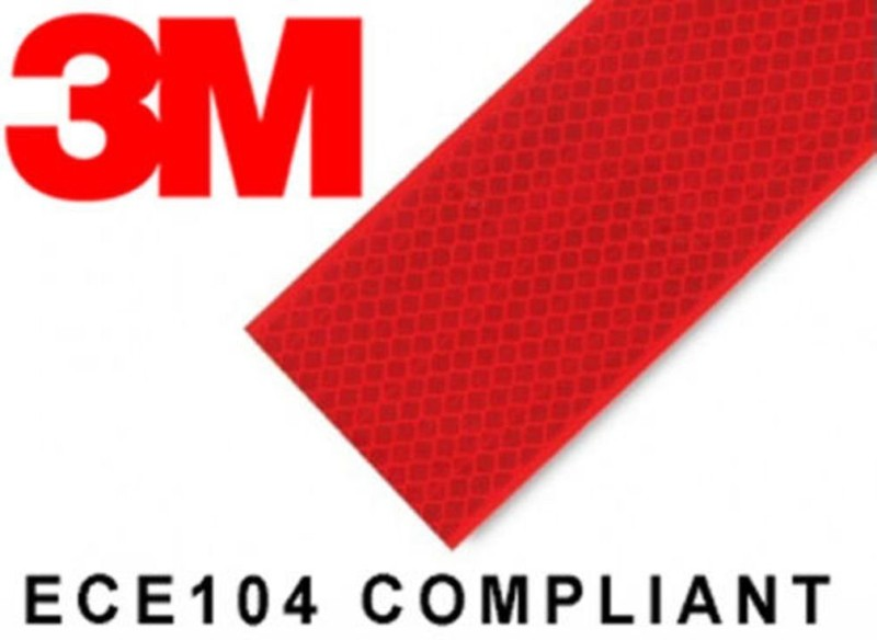 3M AR13 50.8 mm x 3048 mm Red Reflective Tape(Pack of 1)