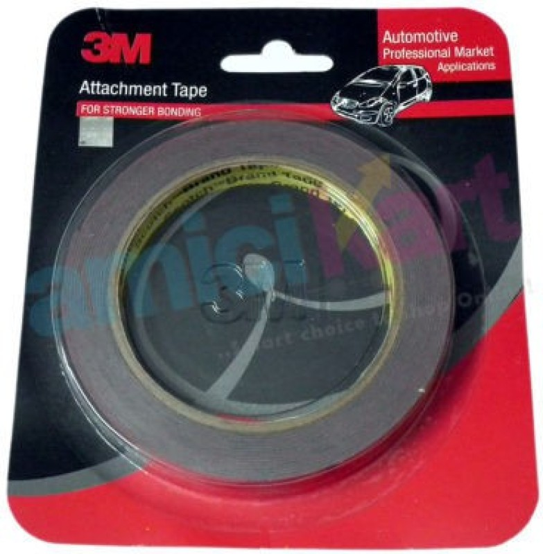 3M Double Side Or Sided Adhesive For Super Stronger Bonding 12 Mm X 10 Mtr 12 mm x 10 m Red Reflective Tape(Pack of 1)