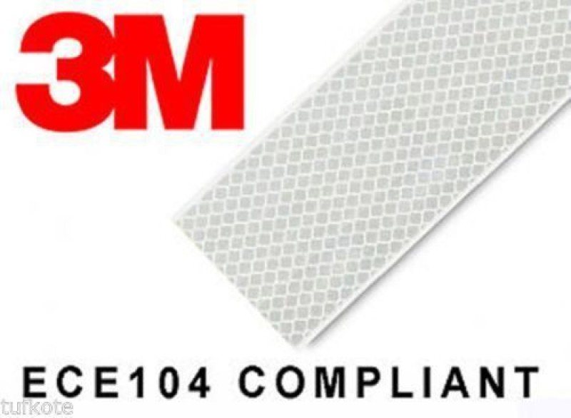 3M AW2 50.8 mm x 1524 mm White Reflective Tape(Pack of 1)