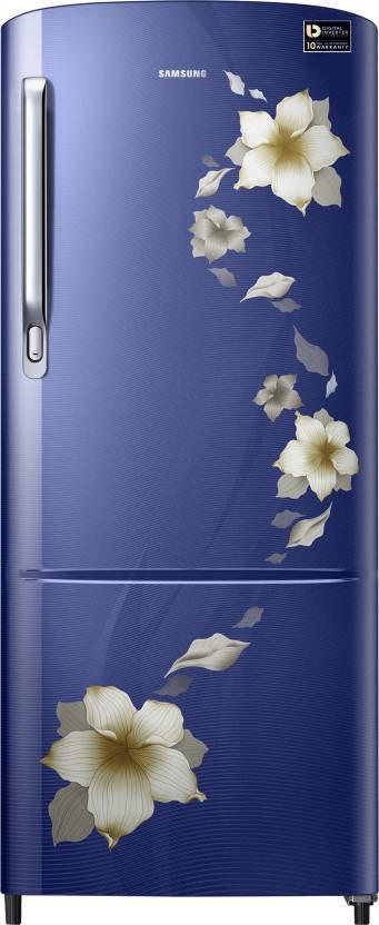 SAMSUNG 192 L Direct Cool Single Door Refrigerator(RR20M272ZU2-NL/ RR20M172ZU2-HL, Star Flower Blue, 2017)   Refrigerator  (Samsung)