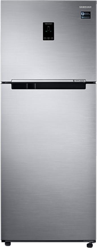 View SAMSUNG 394 L Frost Free Double Door Refrigerator(RT39K5518S8, Elegant Inox, 2016)  Price Online