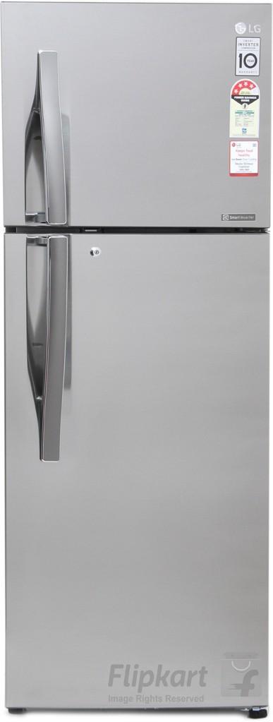 LG 308 L Frost Free Double Door Refrigerator(GL-T322RPZX, Shiny Steel, 2017) (LG)  Buy Online