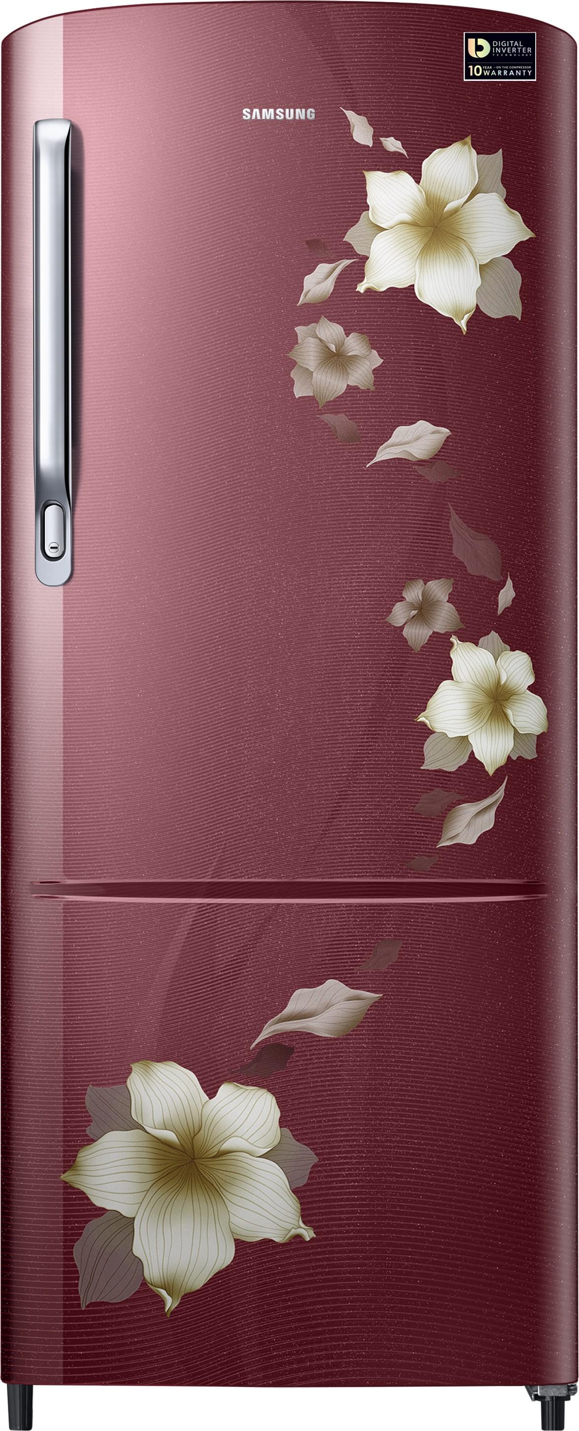 SAMSUNG 212 L Direct Cool Single Door Refrigerator(RR22M274YR2/NL, Star Flower Red, 2017) (Samsung) Tamil Nadu Buy Online
