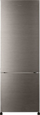Haier 345 L Frost Free Double Door Refrigerator (HRB-3653BS-R, Brushed Grey)