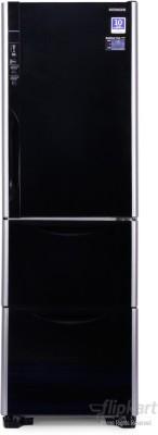 Hitachi 390 L Frost Free Triple Door Refrigerator (R-SG37BPND, Glass Black)