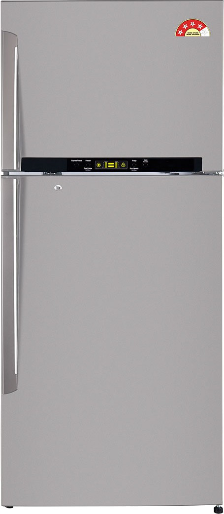 View LG 470 L Frost Free Double Door Refrigerator(GL-T522GNSL, Grey/Noble Steel)  Price Online