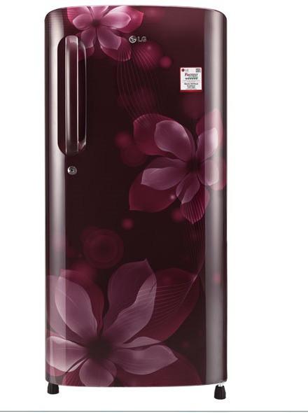 LG 190 L Direct Cool Single Door Refrigerator(GL-B201ASOX, Scarlet Orchid, 2017)   Refrigerator  (LG)