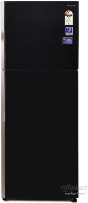 Hitachi 382 L Frost Free Double Door Refrigerator(R-VG400PND3- (GBK), Glass Black, 2016)
