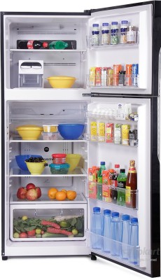 Hitachi 382 L Frost Free Double Door Refrigerator(R-VG400PND3- (GBK), Glass Black)