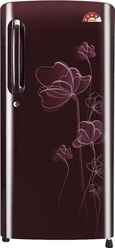 LG 190 L Direct Cool Single Door Refrigerator(GL-B191KSHU, Scarlet Heart, 2017) (LG)  Buy Online