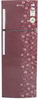 Electrolux 235 L Frost Free Double Door Refrigerator(EP242LMD, Maroon Daisy, 2016)