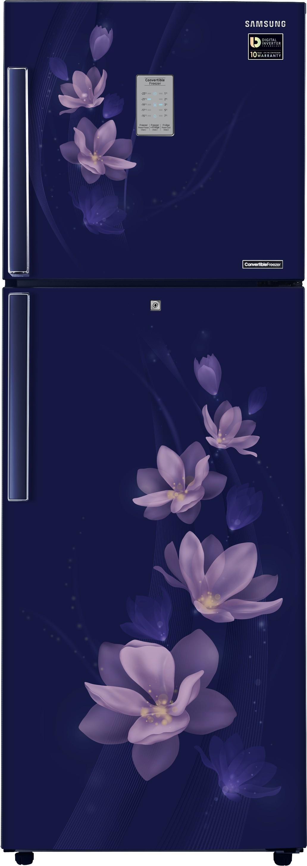 samsung 275 l frost free double door magnolia blue
