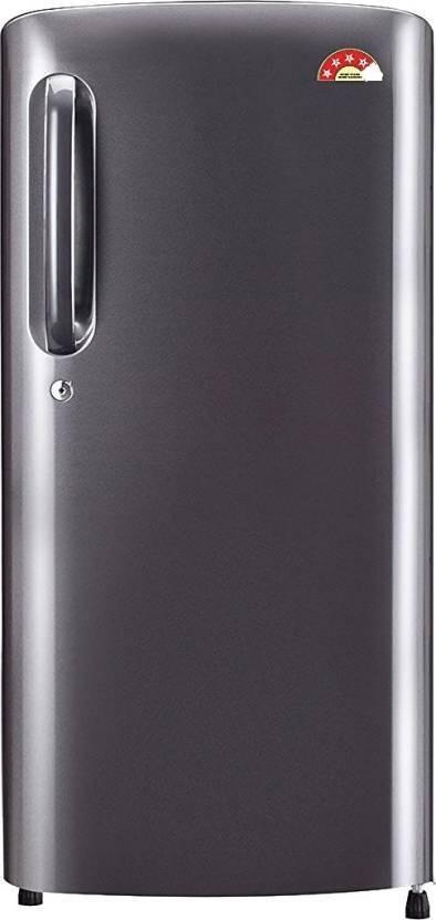 LG 215 L Direct Cool Single Door Refrigerator(GL-B221APZW, shiny steel, 2016) (LG)  Buy Online