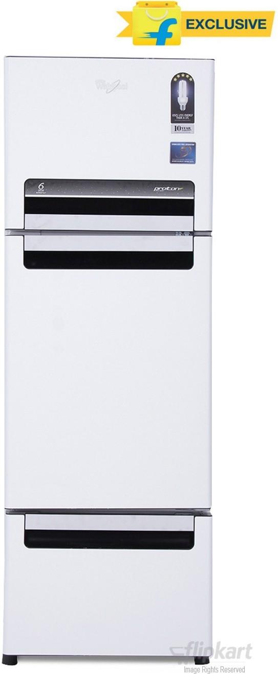 Deals - Delhi - Up to 15% off <br> Whirlpool 3 Door Refrigerators<br> Category - home_kitchen<br> Business - Flipkart.com