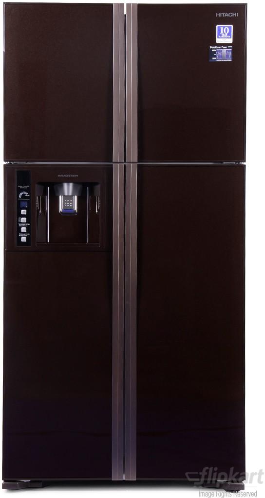 View Hitachi R-W720FPND1X 638 L Side by Side Refrigerator Price Online(Hitachi)