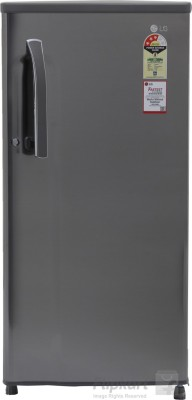 LG 188 L Direct Cool Single Door Refrigerator(GL-B191KPZQ, Shiny Steel)