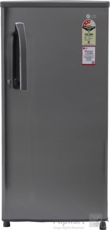 lg 188 l direct cool single door shiny steel