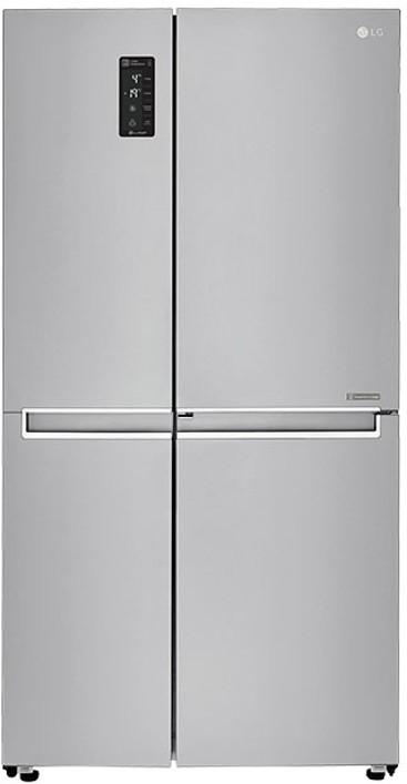 View LG 687 L Frost Free Side by Side Refrigerator(GC-M247CLBV, Shiny Steel/Platinum Silver/VCM-PLATINUM SILVER, 2016)  Price Online