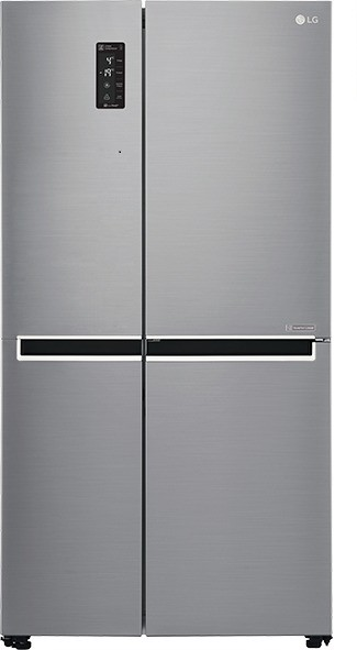 View LG 687 L Frost Free Side by Side Refrigerator(GC-B247SLUV, Shiny Steel/Platinum Silver3, 2016)  Price Online
