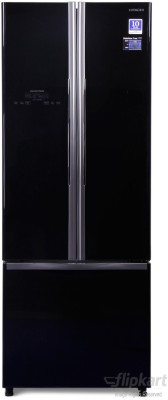 Hitachi 456 L Frost Free French Door Bottom Mount Refrigerator (R-WB480PND2, Glass Black)