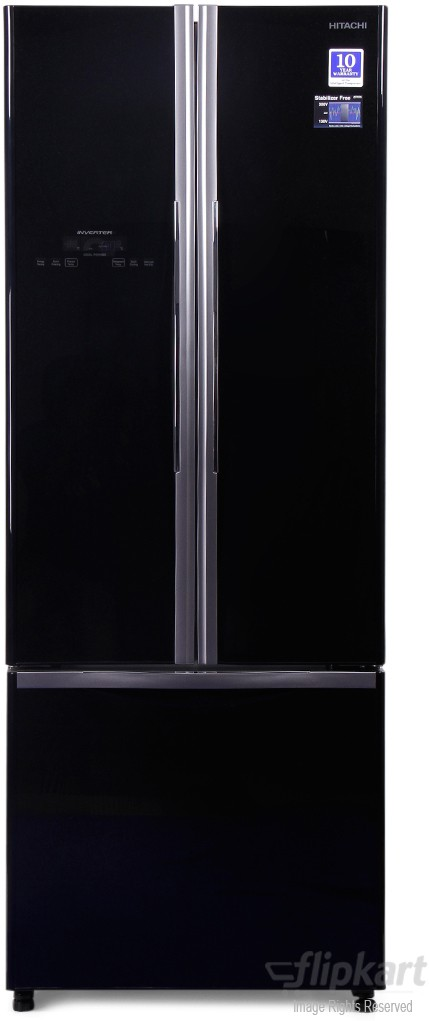 View Hitachi R-WB480PND2 456 L French Door Bottom Mount Refrigerator Price Online(Hitachi)