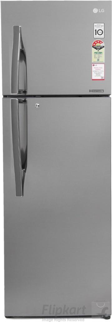 LG 360 L Frost Free Double Door Refrigerator(GL-U402JPZX, Shiny Steel, 2017) (LG)  Buy Online