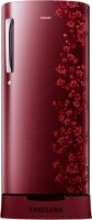 Samsung 212 L Direct Cool Single Door Refrigerator(RR21J2835RX/TL, Orcherry Garnet Red)