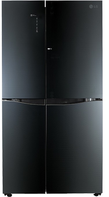 LG 675 L Frost Free Side by Side Refrigerator(GC-M247UGLB, Luminous Black, 2016)