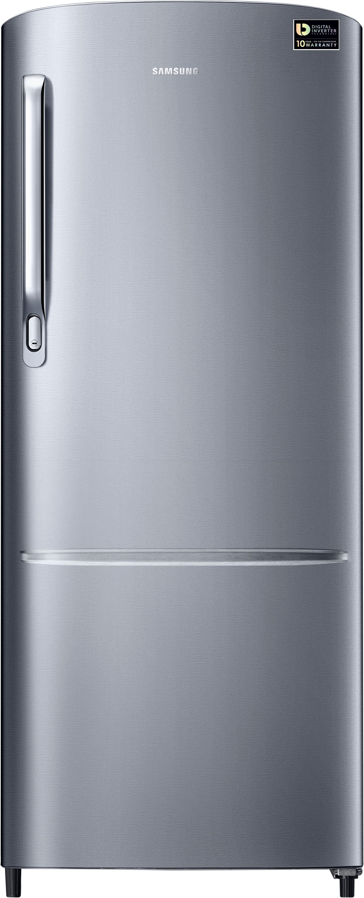 View SAMSUNG 212 L Direct Cool Single Door Refrigerator(RR22M272ZS8/NL, Silver, 2017)  Price Online
