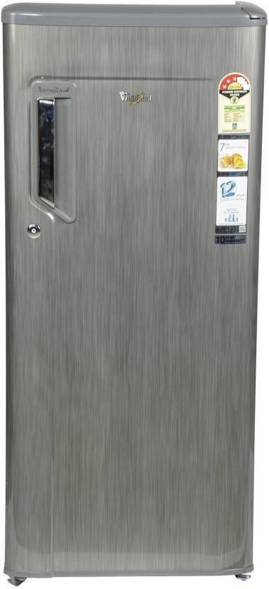 View Whirlpool 215 L Direct Cool Single Door Refrigerator(230 IMFRESH PRM 3S, Grey Titanium, 2017)  Price Online