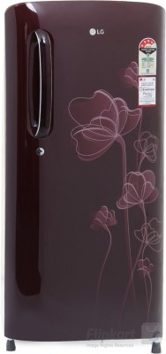 LG 190 L Direct Cool Single Door Refrigerator(GL-B201ASHP, Scarlet Heart)