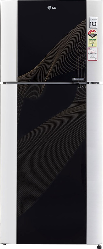 View LG GL-M442TKRL 407 L Double Door Refrigerator  Price Online