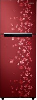 SAMSUNG 253 L Frost Free Double Door Refrigerator(RT28K3082RY/NL, Sanganeri Ring Red)