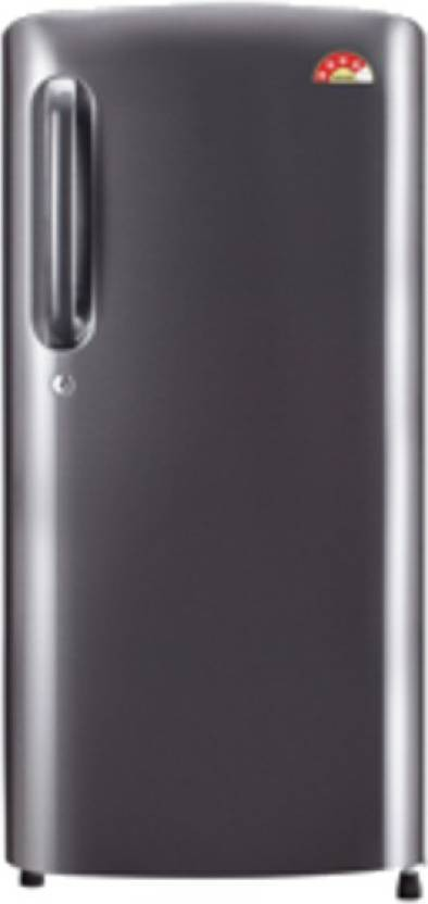 View LG 190 L Direct Cool Single Door Refrigerator(GL-B201ADSW, dazzle Steel, 2016)  Price Online