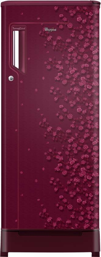 View Whirlpool 185 L Direct Cool Single Door Refrigerator(200 IMPWCOOL ROY 3S, Wine Gloria, 2017)  Price Online
