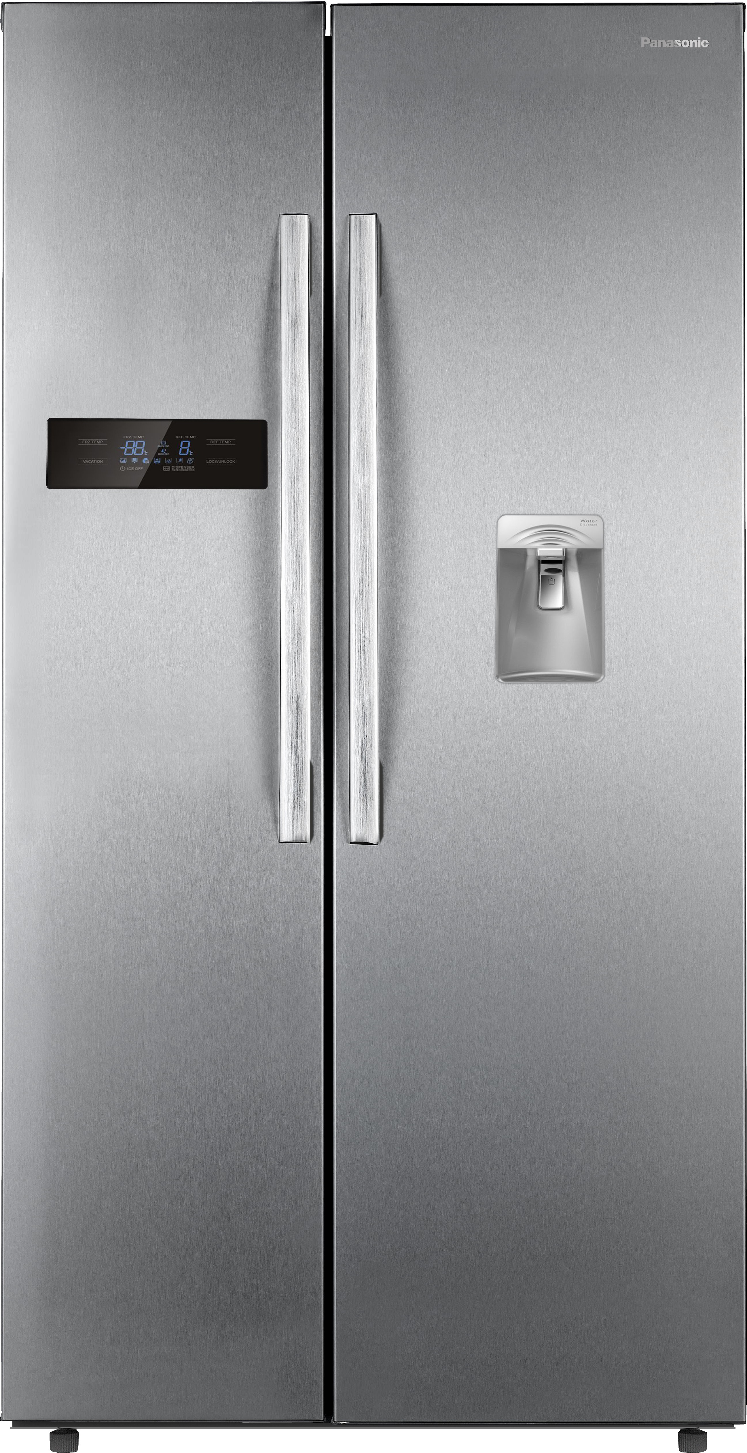 View Panasonic 584 L Frost Free Side by Side Refrigerator(NR-BS60DSX1, Stainless Steel, 2016) Price Online(Panasonic)