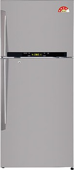 View LG 470 L Frost Free Double Door Refrigerator(GL-T522GNSL, Noble Steel, 2016)  Price Online