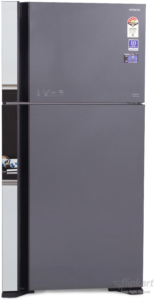 View Hitachi R-VG610PND3 565 L Double Door Refrigerator  Price Online