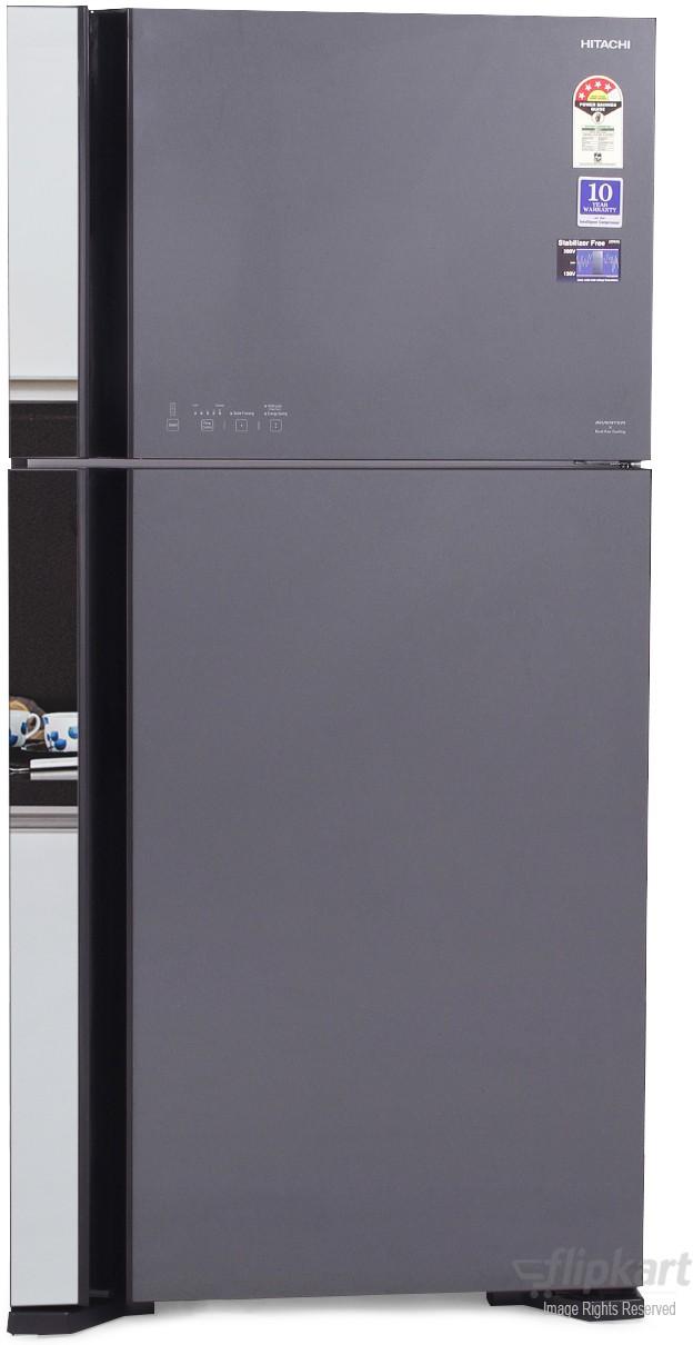 View Hitachi R-VG610PND3 565 L Double Door Refrigerator Price Online(Hitachi)