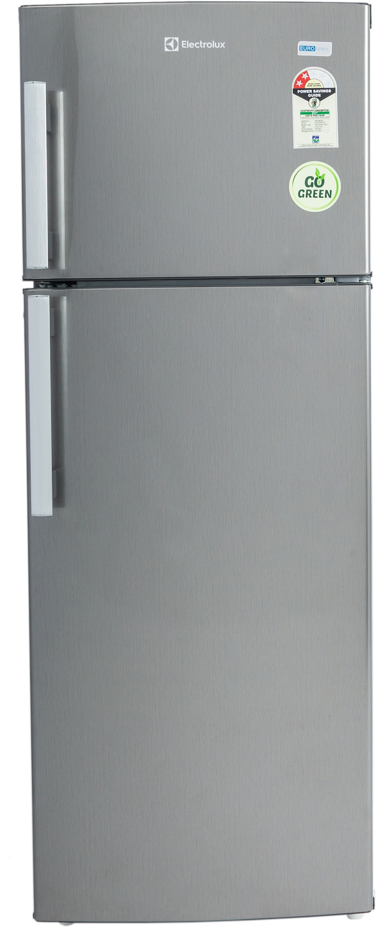 View Electrolux 235 L Frost Free Double Door Refrigerator(REF EP242LSV-HFB, Brushed Hairline, 2016) Price Online(Electrolux)