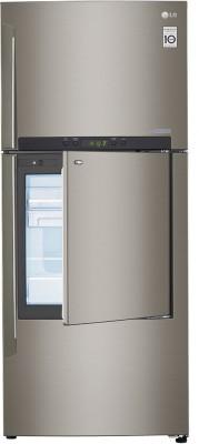 LG GC-D432HLAM 3S 426 Litres Door In Door Refrigerator (Shiny Steel)