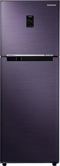 View SAMSUNG 253 L Frost Free Double Door Refrigerator(RT28K3722UT, Pebble Blue)  Price Online