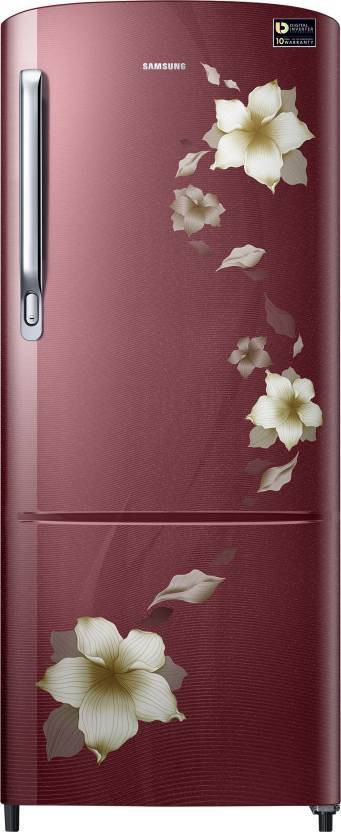 SAMSUNG 192 L Direct Cool Single Door Refrigerator(RR20M272ZR2/NL,RR20M172ZR2/HL, Star Flower Red, 2017)   Refrigerator  (Samsung)