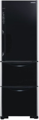 Hitachi 336 L Frost Free Triple Door Refrigerator(R-SG31BPND, Glass Black, 2016)