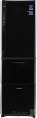 Hitachi 336 L Frost Free Triple Door Refrigerator (R-SG31BPND, Glass Black)